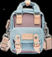 Мини рюкзак - сумочка Doughnut голубой, фото 1