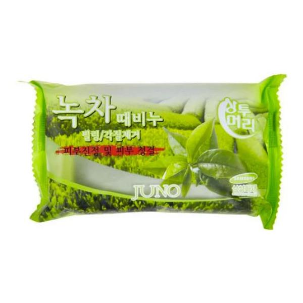 Мыло с легким пилинг-эффектом Juno Peeling Soap Juno Peeling Soap Green Tea