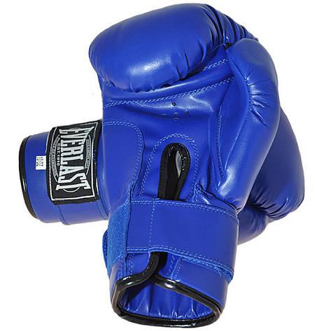 Боксерские перчатки Ever, DX-380, 6oz, синий, фото 2