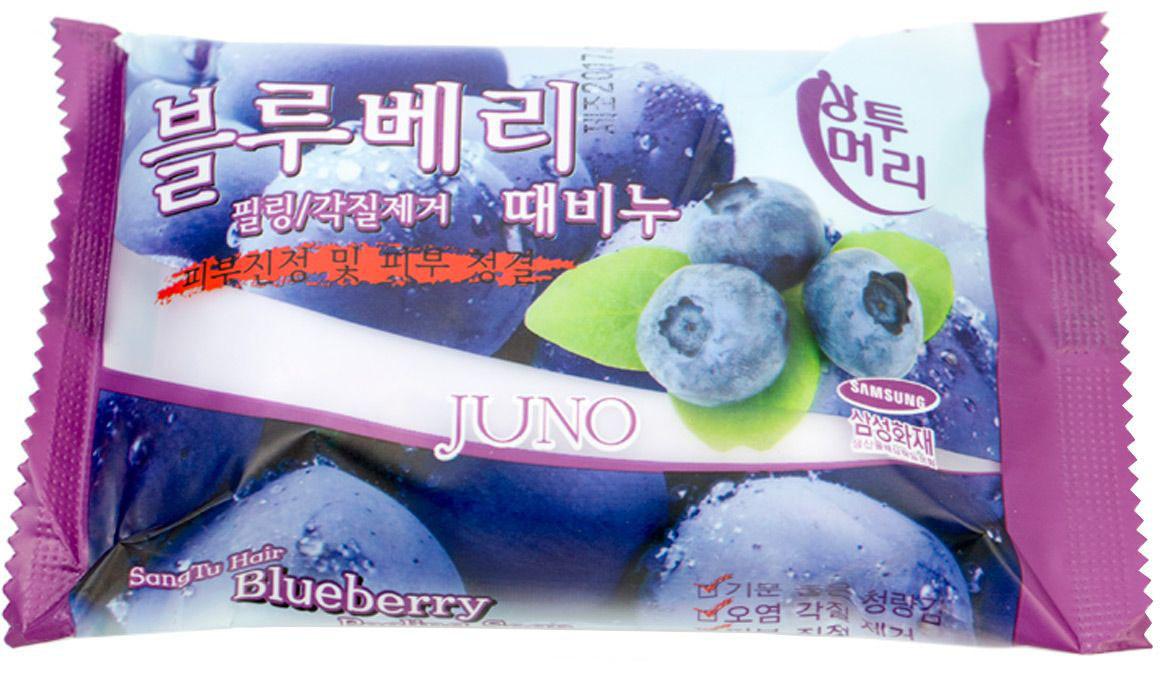Мыло с легким пилинг-эффектом Juno Peeling Soap Juno Peeling Soap Blueberry