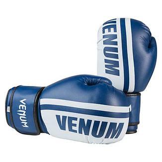 Боксерские перчатки Venum, PVC-19, 12oz синий, фото 2
