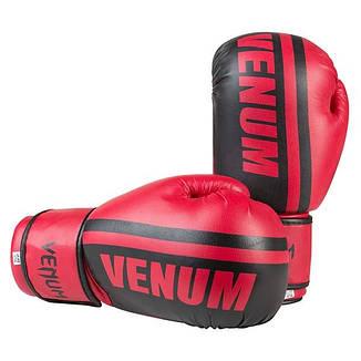Боксерские перчатки Venum, PVC-19, 10oz красный, фото 2