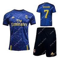Детская футбольная форма Реал Мадрид 2019-2020 Азар Гостевая
