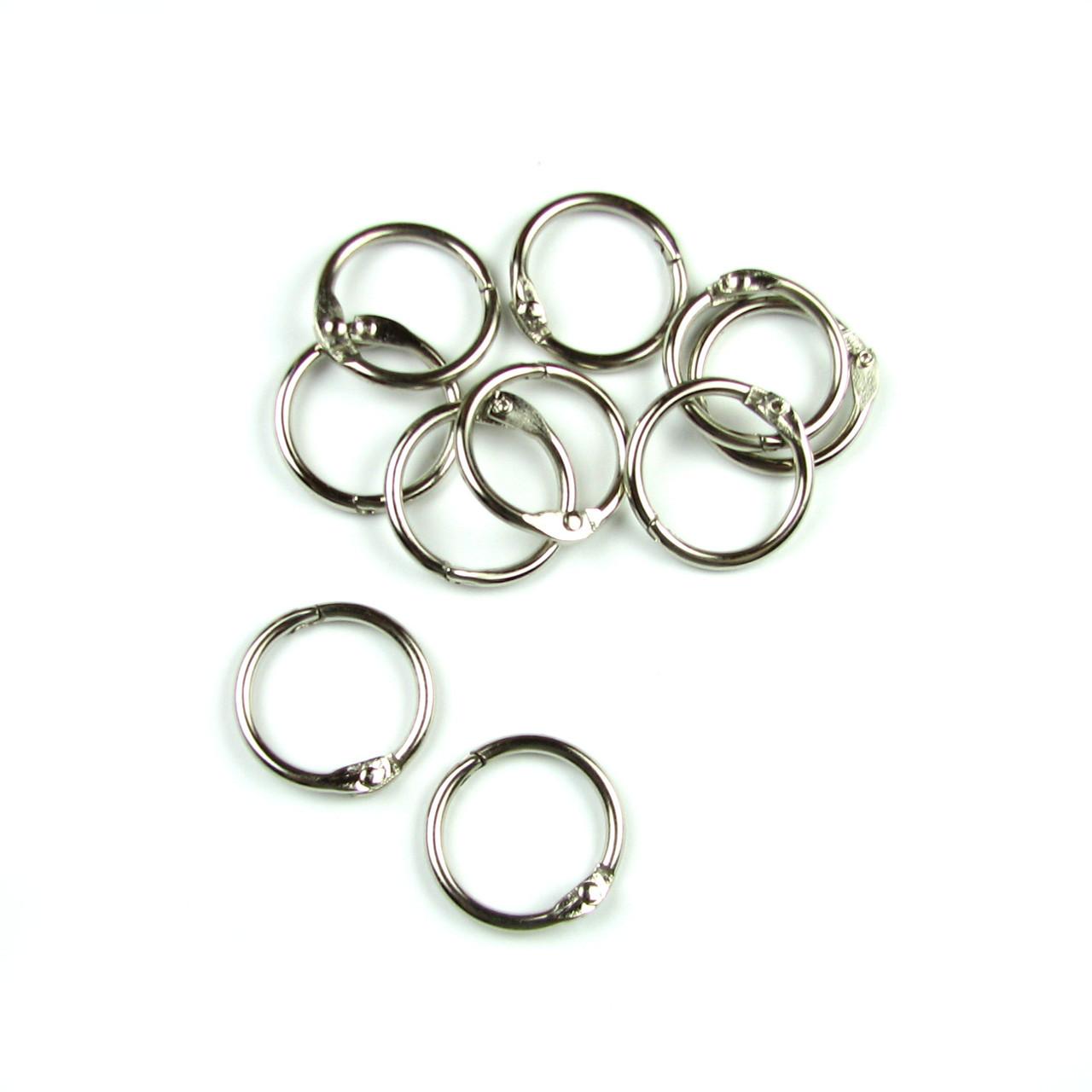 Кольца для альбомов, серебро 15мм 2шт в наборе