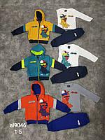 Спортивный утепленный костюм 3 в 1 для мальчика оптом, Black Tuna, 1-5 лет,  № AL9046, фото 1