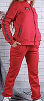 Подростковый зимний спортивный костюм трехнитка тройка юбка, брюки, кофта оптом 134-163, фото 1