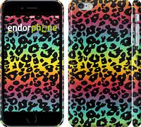 """Чехол на iPhone 6 Plus Радужная шкура леопарда """"1113c-48"""""""