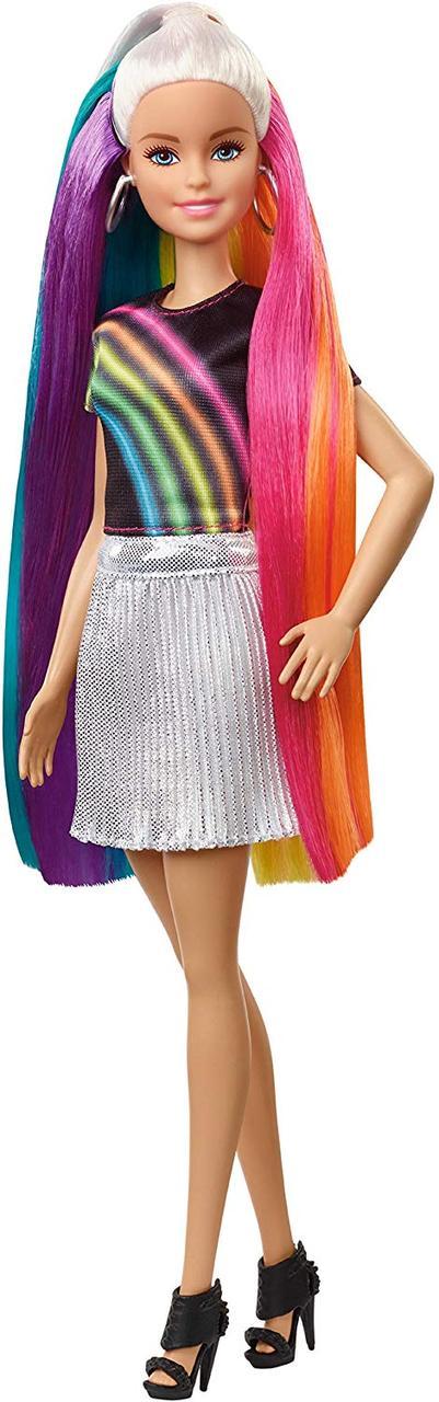 Кукла Барби Радужное сияние волос Радужная и Блестящая Barbie Rainbow Sparkle Hair Doll