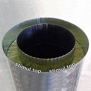 Труба Сендвич нерж/цинк 120х180 мм (1 метр) / Труба Сендвіч / Утеплена димохідна труба, фото 2