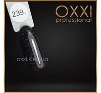 Гель лак Oxxi № 239(черный с красным и зеленым микроблеском)