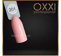 Гель лак Oxxi № 201(светлый персиково-розовый, эмаль)