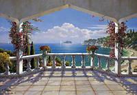 Фотообои на плотной полуглянцевой бумаге для стен 368*254 см из 8 листов:  Моря, реки, озера, океаны, Вилла