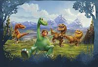 Фотообои на плотной полуглянцевой бумаге для стен 368*254 см из 8 листов:  Детские, Хороший динозавр
