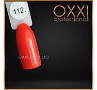 Гель лак Oxxi № 112(яркий красно-оранжевый, неоновый)