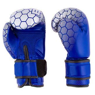 "Боксерские перчатки BadBoy""жираф"", DX, 10oz синий, фото 2"