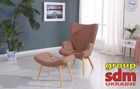 Кресло Флорино с оттаманкой (ассортимент цветов) (с доставкой), фото 2