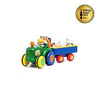 Игрушка на колесах - ТРАКТОР С ТРЕЙЛЕРОМ (на колесах, свет, озвуч. укр. яз.), фото 1