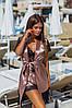 Женский шелковый халат с пижамой 524 ерх, фото 3