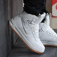 Мужские зимние кроссовки Nike 8469 Белые, фото 1