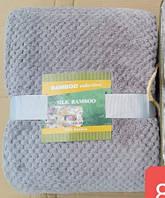 Простирадло/покривало Бамбук 150*200 (мікрофібра) сірий TM Koloco