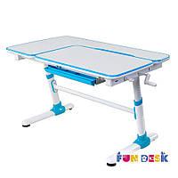 Стол-парта трансформер 119х73 см с регулировкой высоты от 5 до 18+ лет ТМ FunDesk Invito Blue