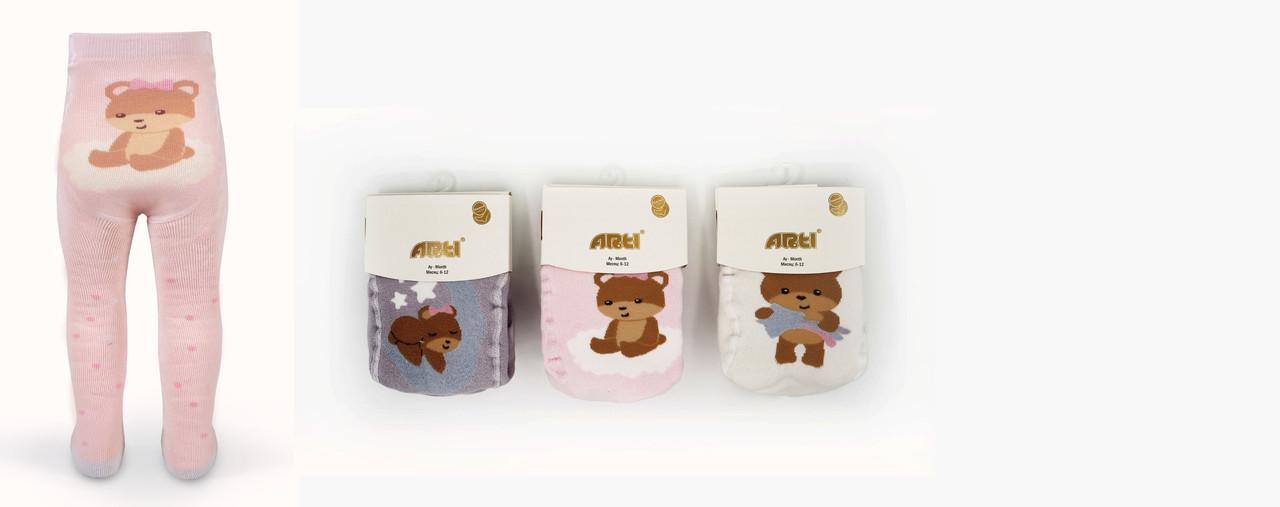 Махровые колготки для новорожденных 0-6 мес, TM Arti оптом Турция 5489612730110