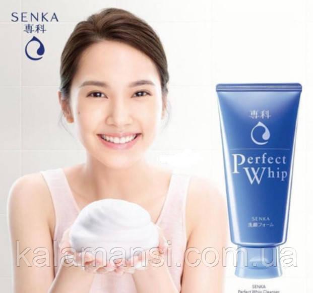 Пенка с гиалуроновой кислотой и протеинами шелка Shiseido Senka Perfect Whip Cleansing Foam 120 г
