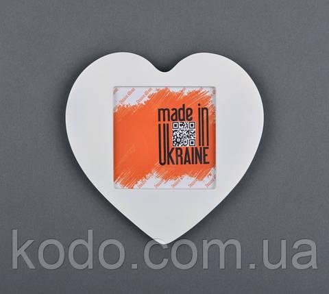 "Фоторамка мультирамка ""Сердце"" из Дерева на 1 фото 10х10 см, фото 2"