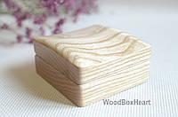 Стильная деревянная шкатулка футляр для запонок, амулета, подвески