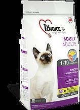 Сухой корм для кошек 1st Choice Adult Finicky Chicken для привередливых и активных кошек 5,44 кг