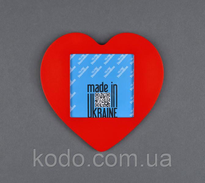 """Фоторамка мультирамка """"Сердце"""" из Дерева на 1 фото 10х10 см"""