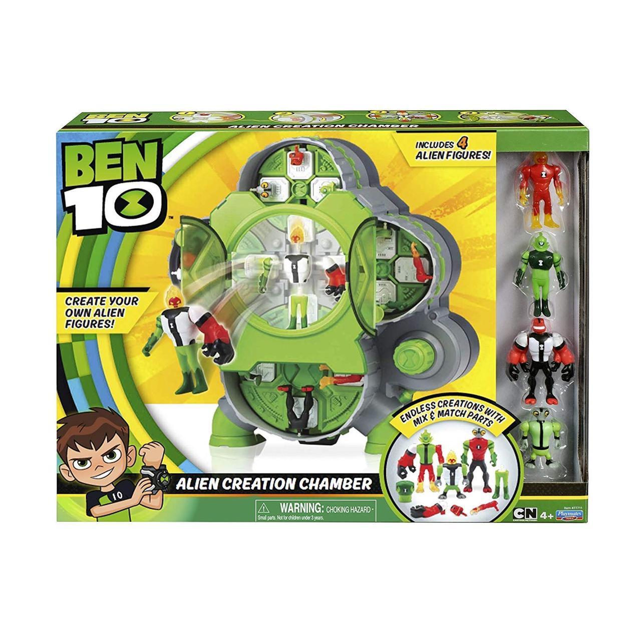 """Игровой набор Бен 10 """"Камера создания пришельцев"""" + 4 фигурки, Ben 10 Alien Creation Chamber, Оригинал"""