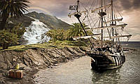Фотообои 3D природа, море, корабль (флизелин, бумага) 368х254 см : Пираты  причалили (2050.20066P8CN), фото 1