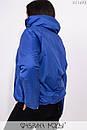 Короткая демисезонная куртка в больших размерах на молнии с воротником стойкой 1ba258, фото 4
