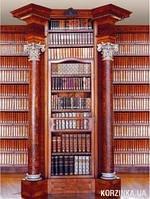 Фотообои на плотной полуглянцевой бумаге для стен 194x270см. Большая  библиотека. Komar 4-090
