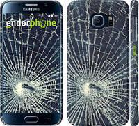 "Чехол на Samsung Galaxy S6 G920 Разбитое стекло ""240c-80"""