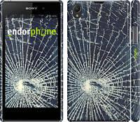 """Чехол на Sony Xperia Z1 C6902 Разбитое стекло """"240c-38"""""""