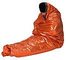 Сверхлегкий спальный мешок для экстренной помощи (выживания) Спасательное одеяло. Бивачный мешок., фото 7