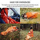 Сверхлегкий спальный мешок для экстренной помощи (выживания) Спасательное одеяло. Бивачный мешок., фото 9