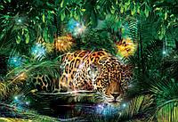 Фотообои 3D 368х254 см : Леопард в тропиках (10212P8CN), фото 1