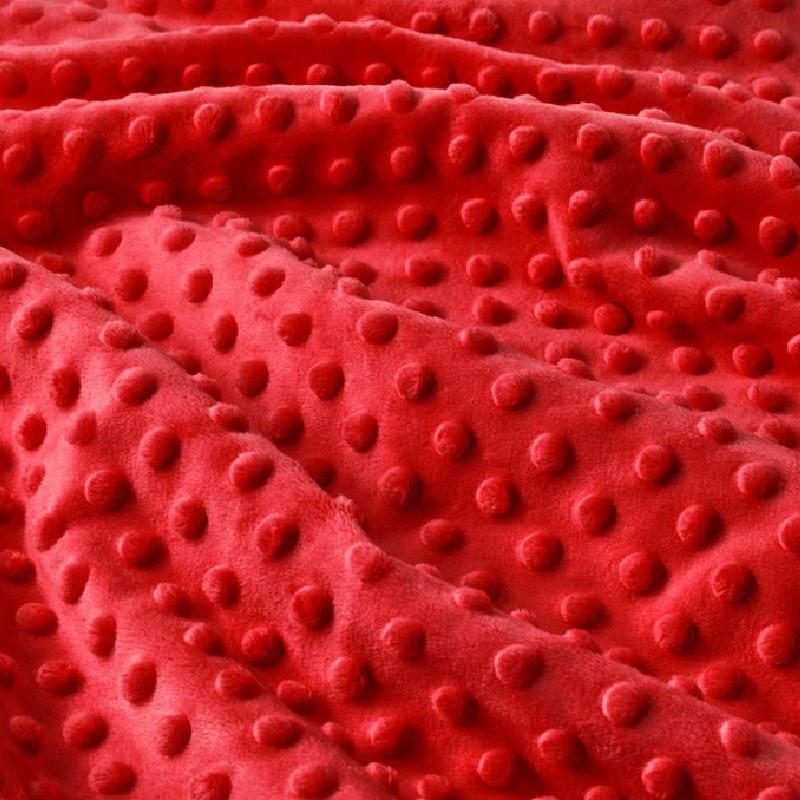 ✁ Отрез плюш Minky красный 100х75 см