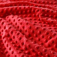 ✁ Отрез плюш Minky красный 100х75 см, фото 1