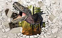 Фотообои 3D (бумага, флизелин) 368x254 см Большая пасть динозавра (11462CN)