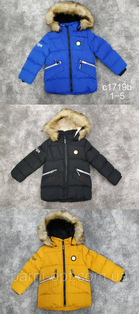 Куртки зимние на мальчика оптом, Setty Koop, 1-5 рр