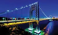 Фотообои 3D город (флизелин 416х254, бумага 254х184 368х254) Ночной мост  (1443CN)