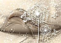 Фотообои 3D цветы (флизелин, плотная бумага, 368x254 см) Одуванчик и  бабочки (3430.20712)