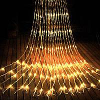 Гирлянда Водопад 2 м х 2 м (280 LED статический режим) Световой занавес Дождь Штора Теплый