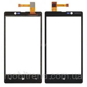 Сенсор Nokia 820 Lumia black orig
