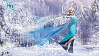 Фотообои детские для девочек 368x254 см Холодное сердце : Снежная Королева  Эльза CN1633