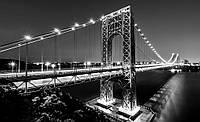 Фотообои 3D город Нью-Йорк 368x254 см Светлый Бруклинский мост (1442CN)